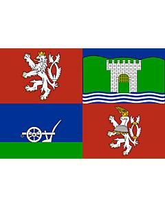 Flag: Ústí nad Labem Region |  landscape flag | 6.7m² | 72sqft | 200x335cm | 6x11ft