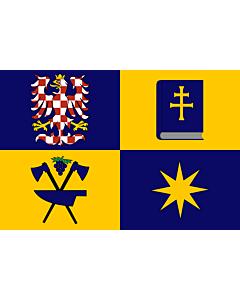 Flag: Zlín Region |  landscape flag | 0.24m² | 2.5sqft | 40x60cm | 1.3x2foot
