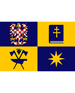 Flag: Zlín Region |  landscape flag | 6.7m² | 72sqft | 200x335cm | 6x11ft
