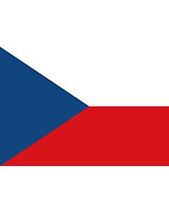 Flag: Czechia (Czech Republic) |  landscape flag | 0.7m² | 7.5sqft | 70x100cm | 2x3ft