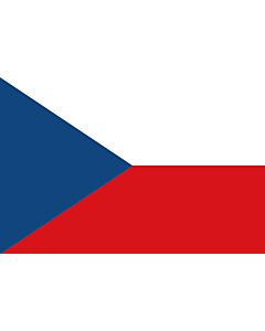 Flag: Czechia (Czech Republic) |  landscape flag | 0.96m² | 10sqft | 80x120cm | 2.5x4ft