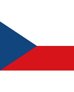 Flag: Czechia (Czech Republic) |  landscape flag | 1.5m² | 16sqft | 100x150cm | 3.5x5ft