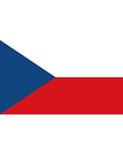 Flag: Czechia (Czech Republic) |  landscape flag | 2.4m² | 26sqft | 120x200cm | 4x7ft