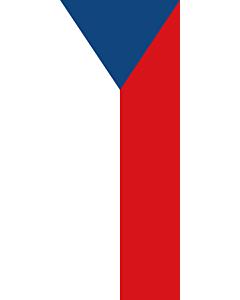 Vertical Hanging Swivel Crossbar Banner Flag: Czechia (Czech Republic) |  portrait flag | 3.5m² | 38sqft | 300x120cm | 10x4ft