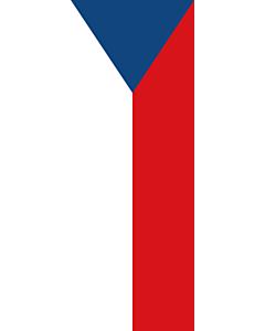 Vertical Hanging Swivel Crossbar Banner Flag: Czechia (Czech Republic) |  portrait flag | 6m² | 64sqft | 400x150cm | 13x5ft