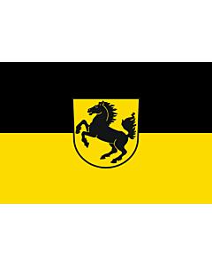 Flag: Stuttgart, Landeshauptstadt |  landscape flag | 2.16m² | 23sqft | 120x180cm | 4x6ft