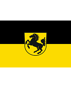 Flag: Stuttgart, Landeshauptstadt |  landscape flag | 6m² | 64sqft | 200x300cm | 6x10ft
