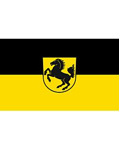 Flag: Stuttgart, Landeshauptstadt |  landscape flag | 6.7m² | 72sqft | 200x335cm | 6x11ft