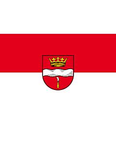 Flag: Winterbach |  landscape flag | 0.06m² | 0.65sqft | 20x30cm | 8x12in