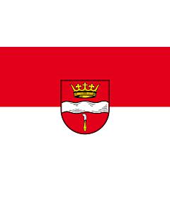 Flag: Winterbach |  landscape flag | 0.7m² | 7.5sqft | 70x100cm | 2x3ft