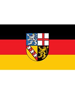Indoor-Flag: Saarland 90x150cm