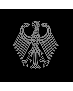 Flag: Bundestrauerstander, Trauerstandarte der Bundesrepublik Deutschland |  0.06m² | 0.65sqft | 25x25cm | 10x10inch