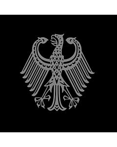 Flag: Bundestrauerstander, Trauerstandarte der Bundesrepublik Deutschland |  1.35m² | 14.5sqft | 120x120cm | 45x45inch