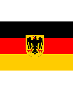 Flag: Germany |  landscape flag | 0.375m² | 4sqft | 50x75cm | 1.5x2.5ft