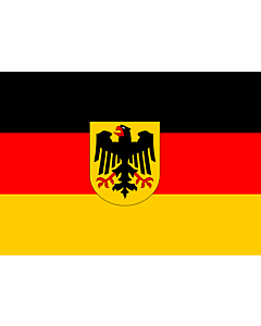 Flag: Germany |  landscape flag | 0.7m² | 7.5sqft | 70x100cm | 2x3ft