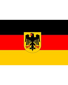 Flag: Germany |  landscape flag | 0.96m² | 10sqft | 80x120cm | 2.5x4ft