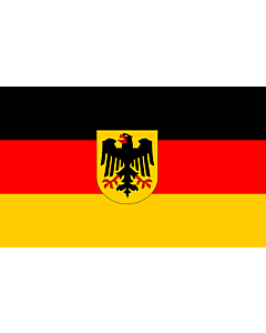 Flag: Germany |  landscape flag | 1.35m² | 14.5sqft | 90x150cm | 3x5ft