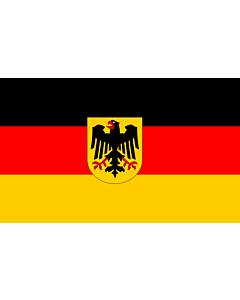 Flag: Germany |  landscape flag | 2.4m² | 26sqft | 120x200cm | 4x7ft