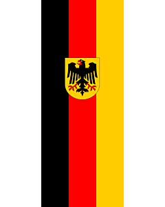 Flagge:  Deutschland  |  Hochformat Fahne | 3.5m² | 300x120cm