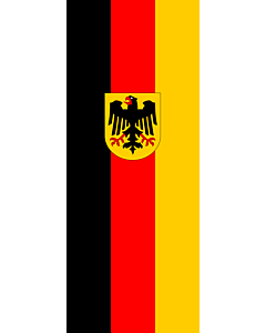 Vertical Hanging Beam Flag: Germany |  portrait flag | 3.5m² | 38sqft | 300x120cm | 10x4ft