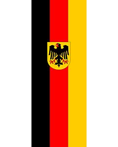 Ausleger-Flagge:  Deutschland  |  Hochformat Fahne | 6m² | 400x150cm