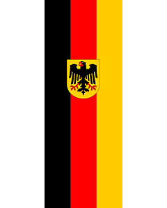 Vertical Hanging Swivel Crossbar Banner Flag: Germany |  portrait flag | 6m² | 64sqft | 400x150cm | 13x5ft