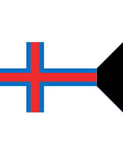 Drapeau: Faroe Islands  tail | Swallowtailed flag of the Faroes |  drapeau paysage | 1.35m² | 90x150cm