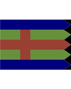 Drapeau: Jutland | Jutlandic banner | Den Jydske Fane |  drapeau paysage | 2.16m² | 120x180cm