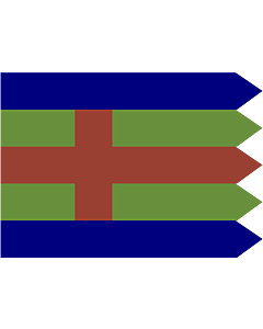 Drapeau: Jutland | Jutlandic banner | Den Jydske Fane |  drapeau paysage | 0.06m² | 20x30cm