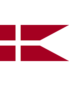 Drapeau: Naval Ensign of Denmark |  drapeau paysage | 0.375m² | 45x85cm