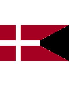 Drapeau: Naval Ensign of Denmark |  drapeau paysage | 1.35m² | 85x160cm