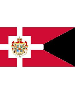 Drapeau: Royal Standard of Denmark | Det danske kongeflag |  drapeau paysage | 2.16m² | 110x200cm