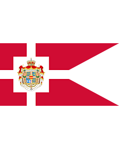 Drapeau: Royal Standard of Denmark | Det danske kongeflag |  drapeau paysage | 0.06m² | 18x35cm