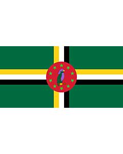 Flag: Dominica 1978-1981 |  landscape flag | 1.35m² | 14.5sqft | 80x160cm | 30x60inch