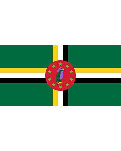Flag: Dominica 1978-1981 |  landscape flag | 2.16m² | 23sqft | 100x200cm | 40x80inch