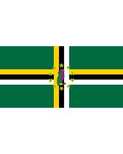 Flag: Dominica 1981-1988 |  landscape flag | 1.35m² | 14.5sqft | 80x160cm | 30x60inch