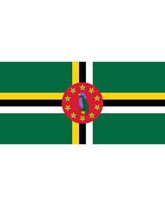 Flag: Dominica from 1988 to 1990 |  landscape flag | 1.35m² | 14.5sqft | 80x160cm | 30x60inch