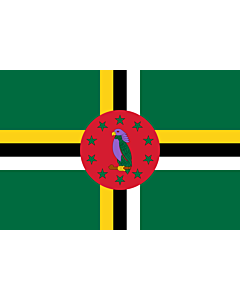Flag: Dominica |  landscape flag | 0.375m² | 4sqft | 50x75cm | 1.5x2.5ft