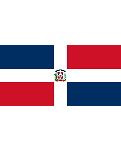 Drapeau: Naval Ensign of the Dominican Republic |  drapeau paysage | 2.16m² | 100x200cm