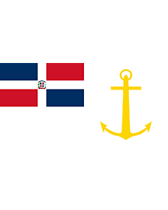Drapeau: Presidential Standard of the Dominican Republic  At Sea | Presidential Standard of the Dominican Republic |  drapeau paysage | 1.35m² | 80x160cm