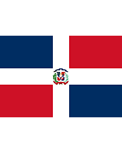 Flag: Dominican Republic |  landscape flag | 3.375m² | 36sqft | 150x225cm | 5x7.5ft