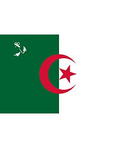 Drapeau: Naval Ensign of Algeria |  drapeau paysage | 1.35m² | 90x150cm