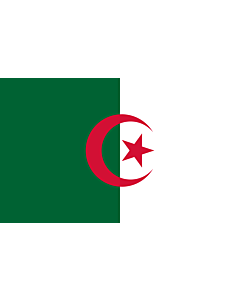 Flag: Algeria |  landscape flag | 1.35m² | 14.5sqft | 90x150cm | 3x5ft
