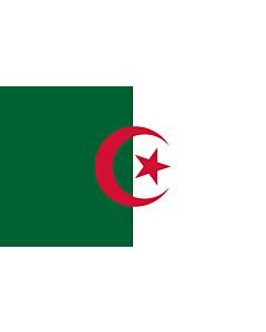 Drapeau: Algérie |  drapeau paysage | 1.35m² | 90x150cm