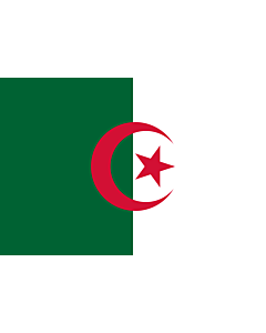 Flag: Algeria |  landscape flag | 1.5m² | 16sqft | 100x150cm | 3.5x5ft