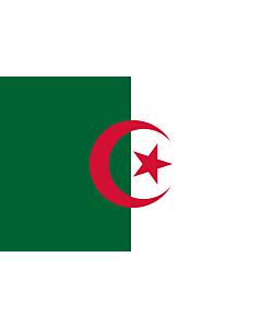 Drapeau: Algérie |  drapeau paysage | 3.375m² | 150x225cm