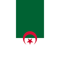 Vertical Hanging Beam Flag: Algeria |  portrait flag | 6m² | 64sqft | 400x150cm | 13x5ft