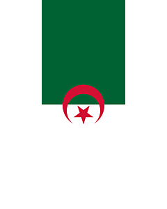Vertical Hanging Swivel Crossbar Banner Flag: Algeria |  portrait flag | 3.5m² | 38sqft | 300x120cm | 10x4ft