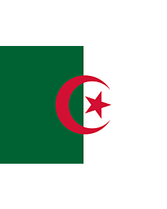 Flag: Algeria |  landscape flag | 0.7m² | 7.5sqft | 70x100cm | 2x3ft