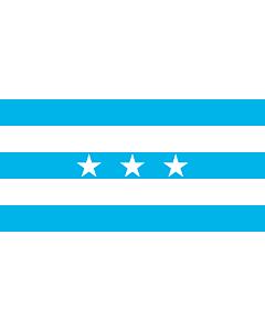 Drapeau: Guayaquil | City Santiago de Guayaquil in Ecuador; Flag of the Guayas Province |  drapeau paysage | 0.06m² | 17x34cm